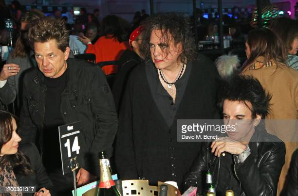 Jason Cooper Robert Smith and Simon Gallup of The Cure attend The NME Awards 2020 at the O2 Academy Brixton on February 12 2020 in London England