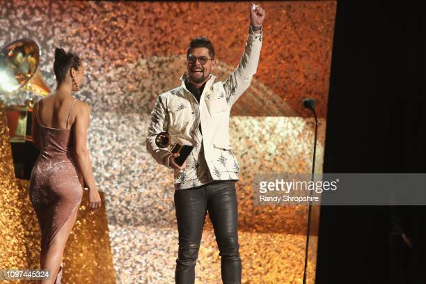 Jason Crabb accepts Roots Gospel Album award at the 61st Annual GRAMMY Awards Premiere Ceremony at Microsoft Theater on February 10 2019 in Los...