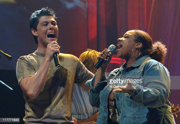 Jason Crabb and Kierra Kiki Sheard during 36th Annual GMA Music Awards Rehearsals at Grand Ole Opry House in Nashville Tennessee United States