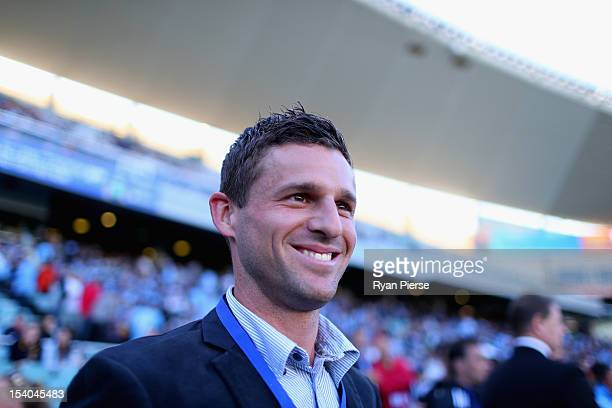 Jason Culina of Sydney FC looks on before the round two ALeague match between Sydney FC and the Newcastle Jets at Allianz Stadium on October 13 2012...