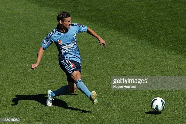 Jason Culina of Sydney FC passes during the round 10 ALeague match between Wellington Phoenix and Sydney FC at Westpac Stadium on December 9 2012 in...