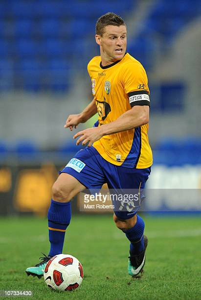 Jason Culina of the Gold Coast controls the ball during the round 17 ALeague match between Gold Coast United and the Melbourne Heart at Skilled Park...