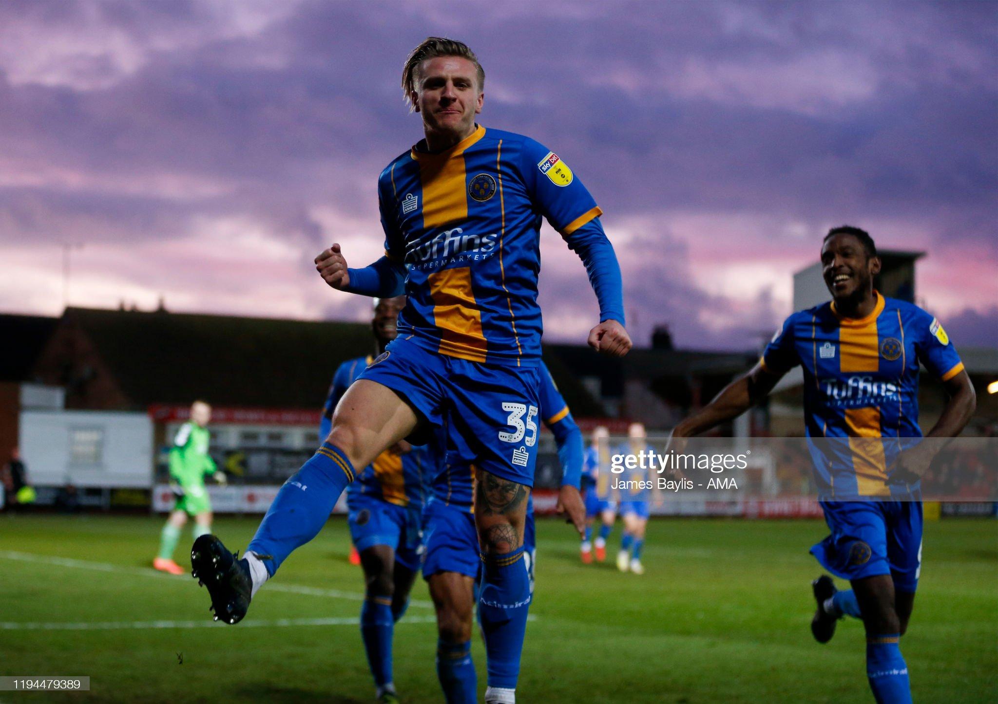 Fleetwood Town v Shrewsbury Town - Sky Bet League One : News Photo