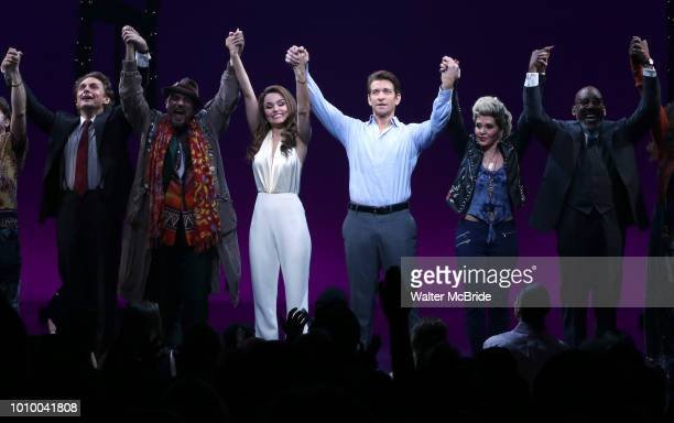 Jason Danieley Eric Anderson Samantah Barks Andy Karl Orfeh Ezra Knight and cast during the Curtain Call for the Garry Marshall Tribute Performance...