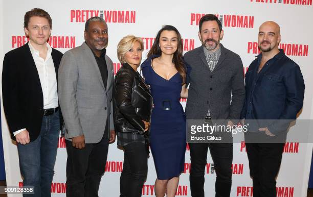 Jason Danieley Kingsley Leggs Orfeh Samantha Barks Steve Kazee and Eric Anderson pose at a photo call for the new Broadway bound musical based on the...