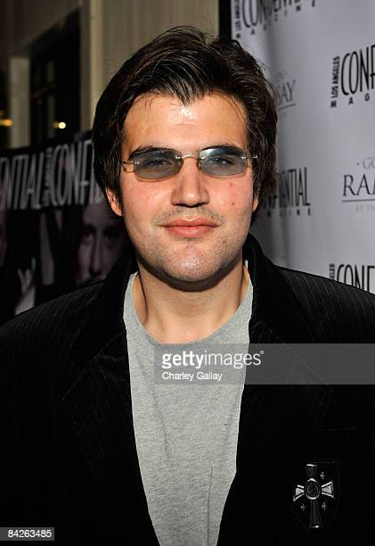 Jason Davis attends Los Angeles Confidential Magazine's evening with Mickey Rourke at the London West Hollywood hotel on January 12 2009 in Los...
