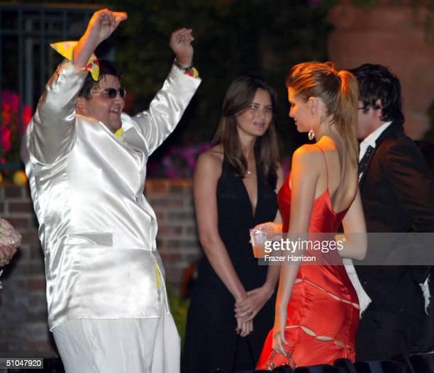 Jason Davis dances for his brother's girlfriend Englishborn American actress Mischa Barton at The 6th annual MercedesBenz Designcure fashion show...
