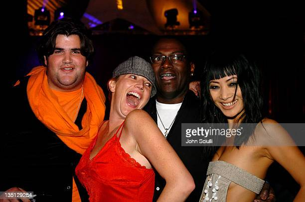 Jason Davis guest Randy Jackson and Bai Ling during Zink Magazine November Issue Celebration with Artists From Cirque Du Soleil at Bliss in Los...