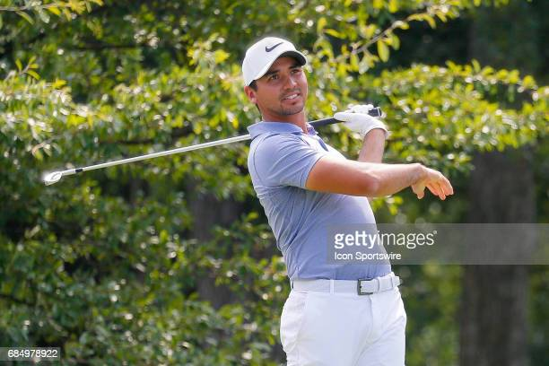 Jason Day hits his tee shot on during the first round of the ATT Byron Nelson on May 18 2017 at the TPC Four Seasons Resort in Irving TX