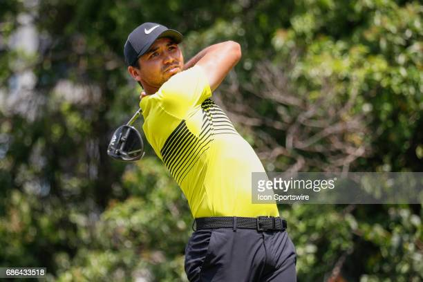 Jason Day hits his tee shot on during the third round of the ATT Byron Nelson on May 20 2017 at the TPC Four Seasons Resort in Irving TX