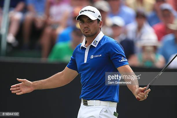 Jason Day of Australia birdies the 9th hole during the second round of the Arnold Palmer Invitational Presented by MasterCard at Bay Hill Club and...