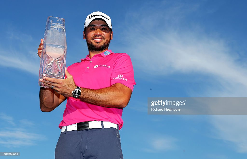 Jason Day of Australia celebrates with the trophy after winning during the final round of THE PLAYERS Championship at the Stadium course at TPC Sawgrass on May 15, 2016 in Ponte Vedra Beach, Florida.