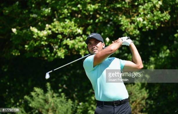 Jason Day of Australia during a practice round prior to the 146th Open Championship at Royal Birkdale on July 18 2017 in Southport England