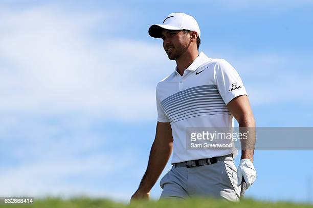 Jason Day of Australia during the second round of the SBS Tournament of Champions at the Plantation Course at Kapalua Golf Club on January 6, 2017 in...