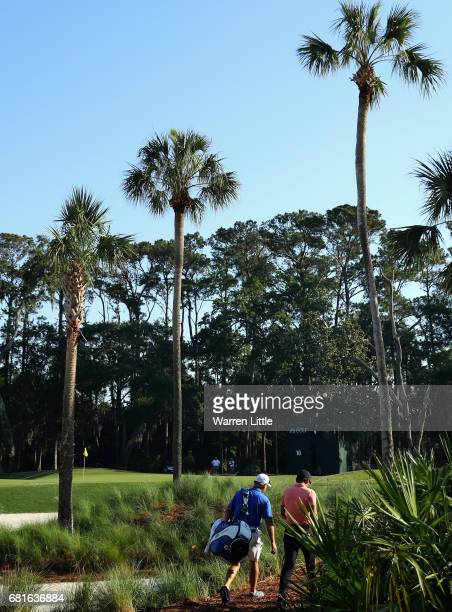 Jason Day of Australia in action during a practice round ahead of THE PLAYERS Championship on the Stadium Course at TPC Sawgrass on May 10 2017 in...