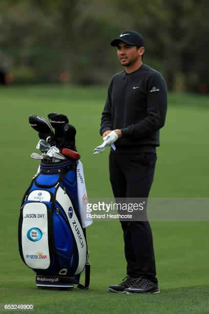 Jason Day of Australia in action during a practise round for the Arnold Palmer Invitational Presented By MasterCard at Bay Hill on March 14 2017 in...