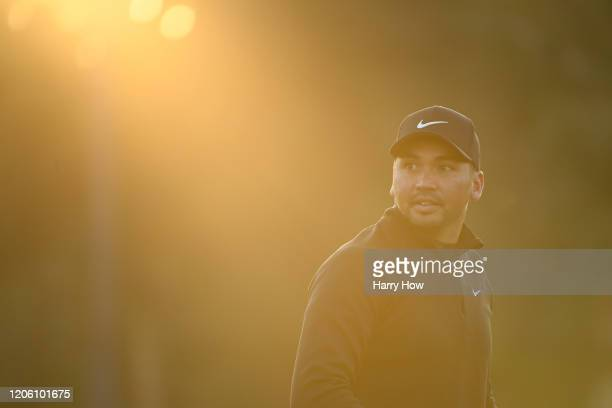 Jason Day of Australia looks on prior to the first round of the Genesis Invitational on February 13 2020 in Pacific Palisades California
