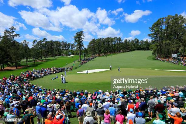 Jason Day of Australia makes an eagle putt on No 2 during the first round at Augusta National Golf Club on Tuesday April 5 2016