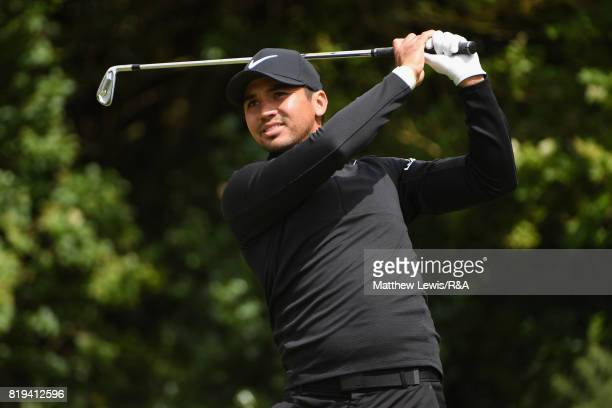 Jason Day of Australia on the fifth tee during the first round of the 146th Open Championship at Royal Birkdale on July 20 2017 in Southport England
