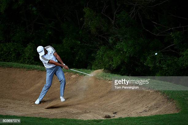 Jason Day of Australia plays a shot during the Hyundai Tournament of Champions ProAm at the Plantation Course at Kapalua Golf Club on January 6 2016...