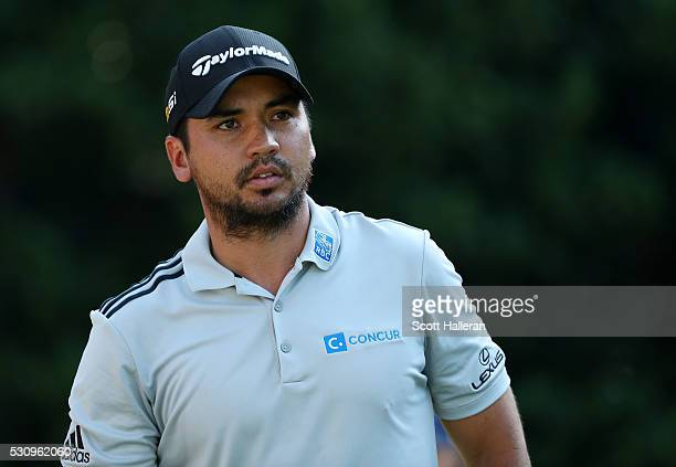 Jason Day of Australia plays his shot from the 11th tee during the first round of THE PLAYERS Championship at the Stadium course at TPC Sawgrass on...