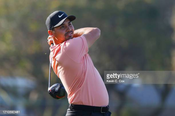 Jason Day of Australia plays his shot from the 12th tee during the first round of the Arnold Palmer Invitational Presented by MasterCard at the Bay...