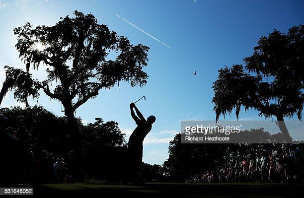Jason Day of Australia plays his shot from the 15th tee during the final round of THE PLAYERS Championship at the Stadium course at TPC Sawgrass on...