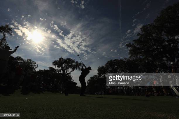 Jason Day of Australia plays his shot from the 15th tee during the second round of THE PLAYERS Championship at the Stadium course at TPC Sawgrass on...