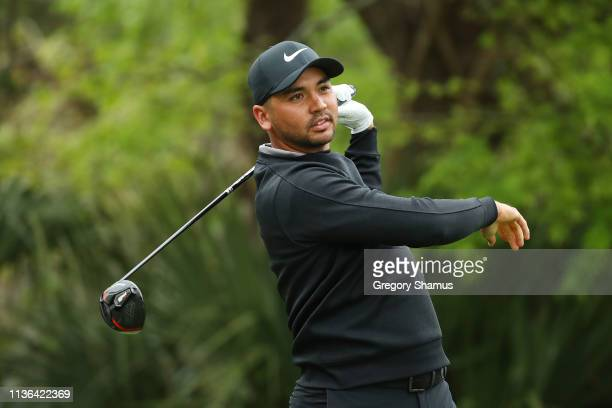 Jason Day of Australia plays his shot from the fifth tee during the final round of The PLAYERS Championship on The Stadium Course at TPC Sawgrass on...