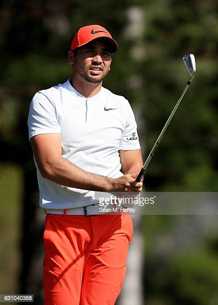 Jason Day of Australia plays his shot from the second tee during the first round of the SBS Tournament of Champions at the Plantation Course at...