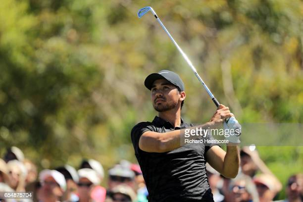 Jason Day of Australia plays his shot from the seventh tee during the third round of the Arnold Palmer Invitational Presented By MasterCard at Bay...