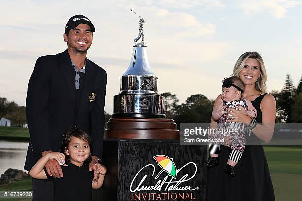 Jason Day of Australia poses with his wife Ellie and children Dash and Lucy following the final round of the Arnold Palmer Invitational Presented by...