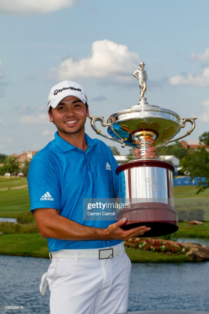 Jason Day of Australia poses with the WInner's Trophy following the fourth round of the HP Byron Nelson Championship at TPC Four Seasons Resort Las Colinas on May 23, 2010 in Irving, Texas.