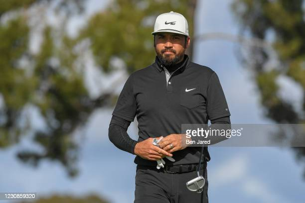 Jason Day of Australia walks onto the 11th green north course during the second round of the Farmers Insurance Open at Torrey Pines South on January...