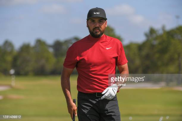 Jason Day of Australia warms up on the range during the final round of the World Golf Championships-Workday Championship at The Concession on...