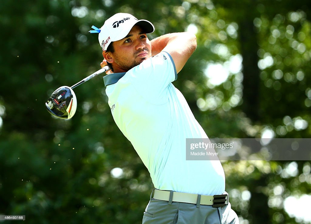 Jason Day of Australia watches his tee shot on the nineth hole during round one of the Deutsche Bank Championship at TPC Boston on September 4, 2015 in Norton, Massachusetts.