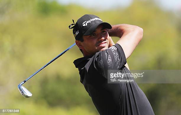 Jason Day of Australia watches his tee shot on the third hole during the second round of the World Golf ChampionshipsDell Match Play at the Austin...