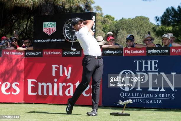 Jason Day tees off at the final round of the 102nd Australian Open Golf Championship at The Australian Golf Club in Sydney on November 26 2017