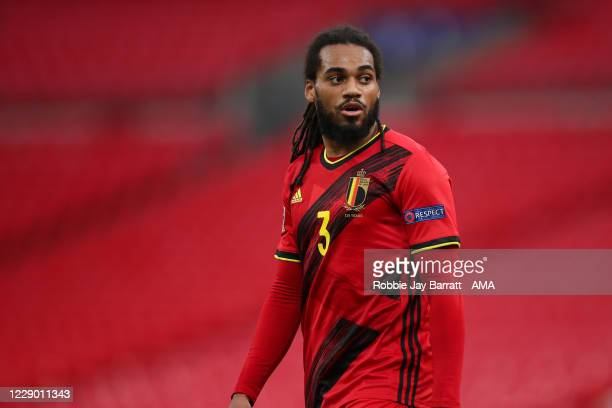 Jason Denayer of Belgium during the UEFA Nations League group stage match between England and Belgium at Wembley Stadium on October 11, 2020 in...