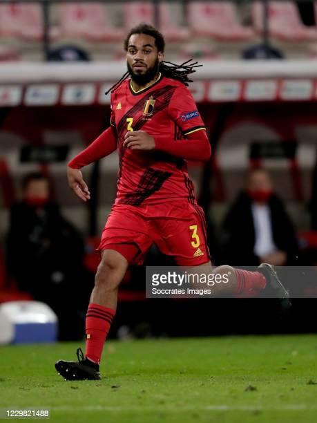 Jason Denayer of Belgium during the UEFA Nations league match between Belgium v Denmark at the King Baudouin Stadium on November 18, 2020 in Brussel...
