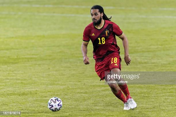 Jason Denayer of Belgium in action during the international friendly match between Belgium and Greece at King Baudouin Stadium on June 3, 2021 in...