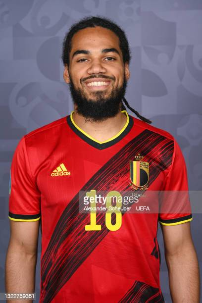 Jason Denayer of Belgium poses during the official UEFA Euro 2020 media access day on June 08, 2021 in Tubize, Belgium.