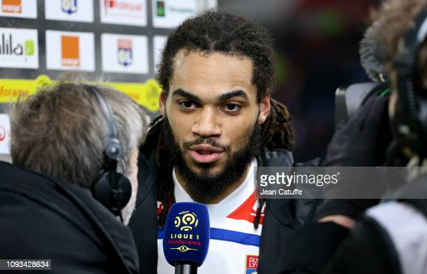 Jason Denayer of Lyon answers to Canal Plus following the french Ligue 1 match between Olympique Lyonnais and Paris SaintGermain at Groupama Stadium...