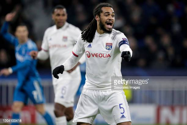 Jason Denayer of Olympique Lyon during the UEFA Champions League match between Olympique Lyon v Juventus at the Parc Olympique Lyonnais on February...
