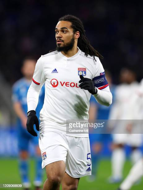 Jason Denayer of Olympique Lyonnais during the UEFA Champions League round of 16 first leg match between Olympique Lyon and Juventus at Parc...
