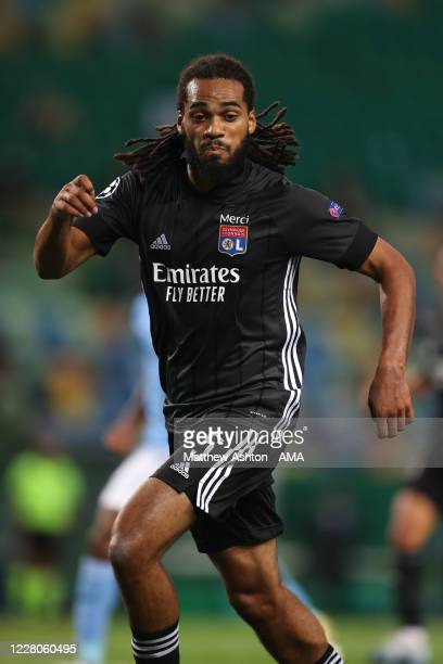 Jason Denayer of Olympique Lyonnais during the UEFA Champions League Quarter Final match between Manchester City and Lyon at Estadio Jose Alvalade on...