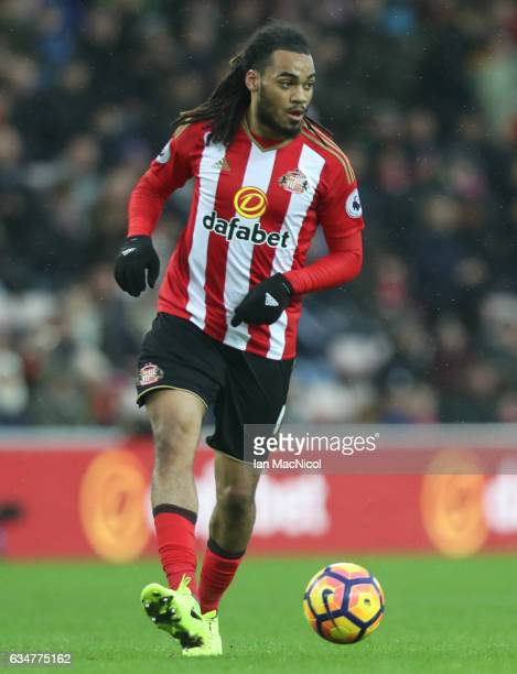 Jason Denayer of Sunderland controls the ball during the Premier League match between Sunderland and Southampton at Stadium of Light on February 11,...