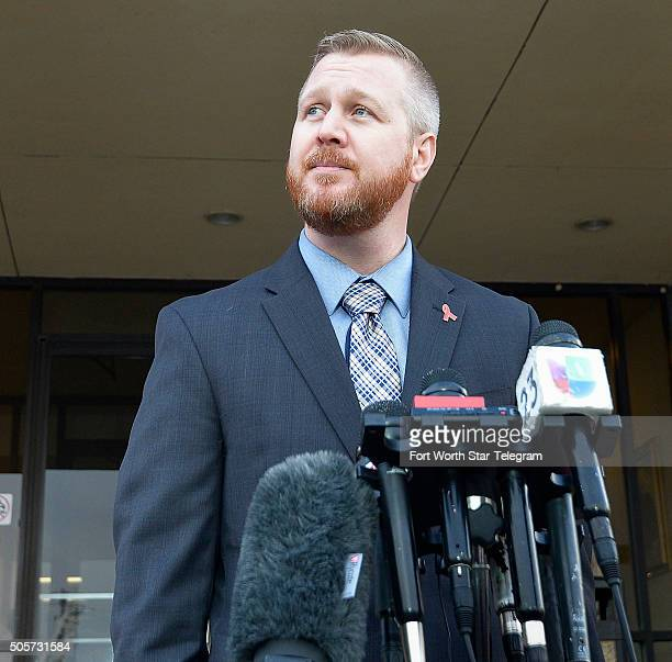 Jason Derscheid executive director of the North Texas affiliate of Mothers Against Drunk Driving talks to the media before presenting a petition to...
