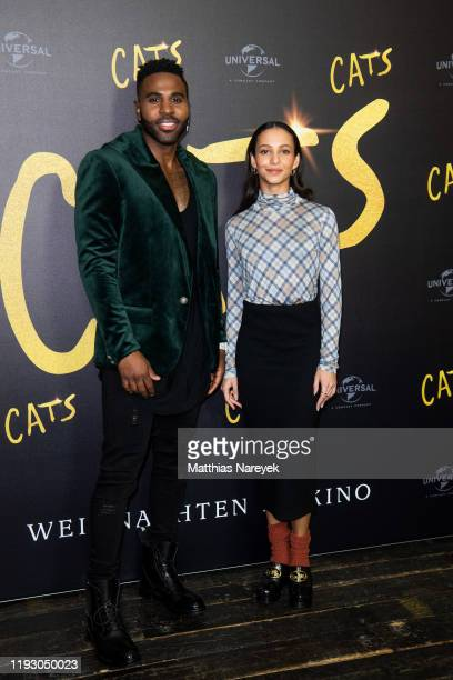 Jason Derulo and Francesca Hayward at the photo call for the movie CATS at Soho House on December 10 2019 in Berlin Germany