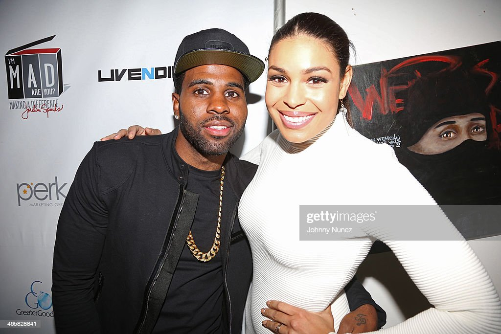 Jason Derulo and Jordin Sparks attend Jordin Sparks & Jason Derulo Welcome to New York Red, White and Black Super Bowl Party at WIP on January 29, 2014 in New York City.